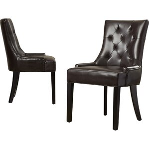 genuine leather dining chairs | joss & main
