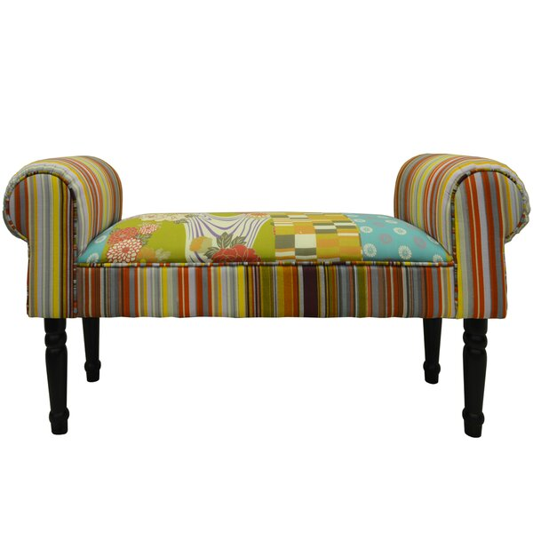 Techstyle Patchwork Upholstered Bedroom Bench Reviews