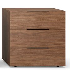 Spazio 3 Drawer Nightstand by Pianca USA