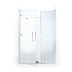 Paragon Illusion Series 37.25 x 70'' Hinged Shower Door and Inline Panel Coastal Shower Doors
