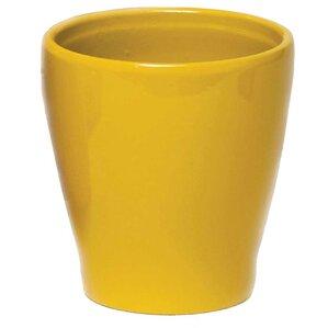 Karen Glazed Ceramic Fluted Pot Planter