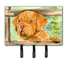 Dogue De Bordeaux Leash Holder and Wall Hook by Caroline's Treasures