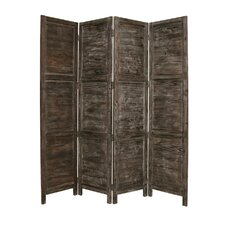 84 x 76 Nantucket Painted 4 Panel Room Divider by Screen Gems