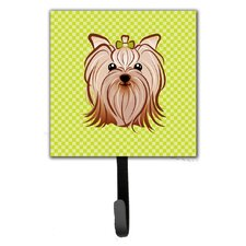 Checkerboard Yorkie Yorkishire Terrier Leash Holder and Wall Hook by Caroline's Treasures