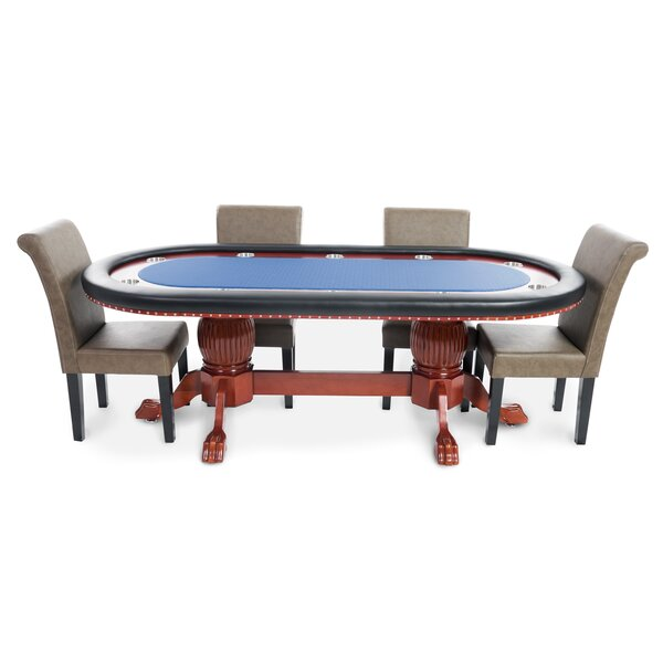 BBO Poker Rockwell 8 Piece Poker Dining Table Set With Lounge Chairs U0026  Reviews | Wayfair