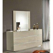 Marley 6 Drawer Dresser with Mirror by Wade Logan