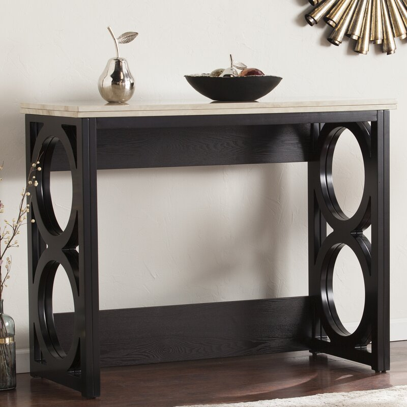 latitude run maura counter height console/ dining table in faux