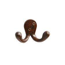 Iron Old Country Double Arm Wall Hook by RCH Supply Company