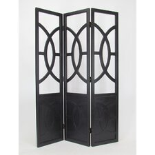 76 x 54 Florence Screen 3 Panel Room Divider by Wayborn