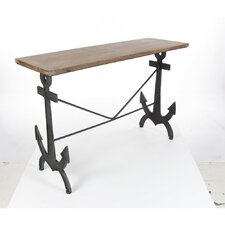 Mooney Metal Wood Console Table by Longshore Tides