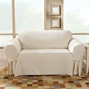 Cotton Duck Loveseat Skirted Slipcover by Sure Fit