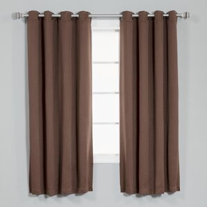 Coolidge Basic Solid Blackout Thermal Grommet Curtain Panels (Set Of 2)