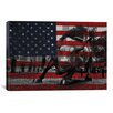 iCanvas Flags New York Street Charging Bull Graphic Art on Canvas