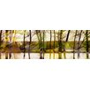 Parvez Taj 'Marmont Hill Lake Trees' by Parvez Taj Framed Graphic Art Print on Wrapped Canvas