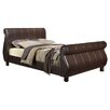 Home & Haus Upholstered Sleigh Bed