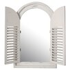 Lily Manor Distressed 59cm Melun Shuttered Mirror