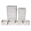 House Additions 6 Piece Laundry Set in White
