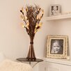 Zhambala White Lily  in Brown and Cream Wave Vase
