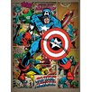 "Art Group Leinwandbild ""Captain America"", Retro-Wandbild"