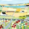 Art Group 'Bright Meadow' by Janet Bell Framed Wall art on Canvas
