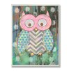 Viv + Rae Stella Distressed Woodland Owl Canvas Wall Art