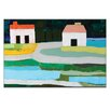 Artist Lane Farm Houses 2 by Anna Blatman Art Print on Canvas