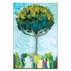 Artist Lane Tree in the Breeze by Anna Blatman Art Print Wrapped on Canvas in Green