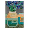 Artist Lane Iris Pot by Anna Blatman Art Print on Canvas