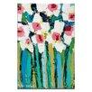 Artist Lane Field Daisies by Anna Blatman Art Print Wrapped on Canvas