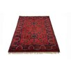 Parwis Afghan Kahl Mohammadi Hand-Tufted Red Rug