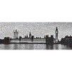 RareArtStudios Westminster Lights Mosaic Limited Edition Framed Graphic Art in Black and White