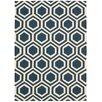 Nourison Linear Hand-Woven Blue Area Rug