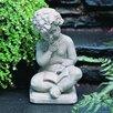 Campania International Seated Boy with Book Statue