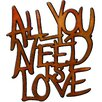 House Additions All You Need is Love Original Painting Plaque Wall Décor