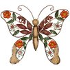 Andover Mills Butterfly Original Painting Plaque Wall Décor