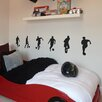 Nutmeg Wall Stickers 6 Piece Small Footballers Wall Sticker Set