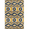 Chandra Rugs Stella Patterned Contemporary Wool Yellow/Blue Area Rug