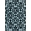 Chandra Rugs Stella Patterned Contemporary Wool Blue/Black Area Rug