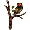 House Additions Owl on Branch Original Painting Plaque Wall Décor