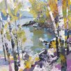 Art Group 'Birch in Spring' by Chris Forsey Framed Wall art on Canvas