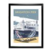 Star Editions Brighton Pier by Dave Thompson Framed Vintage Advertisement