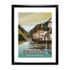 Star Editions Clifton Suspension Bridge, Bristol by Dave Thompson Framed Vintage Advertisement