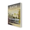 Star Editions Bath, the Georgian City by Dave Thompson Vintage Advertisement Wrapped on Canvas