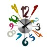 All Home Funky Numbers Wall Clock