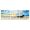 Ebern Designs Fishing At Sunset Wall Mounted Triptych 3 Piece Photographic Print Set