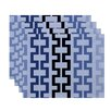 e by design Cuff-Links Geometric Placemat (Set of 4)