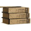 Three Posts Greenside Wood and Canvas Book Chest Box
