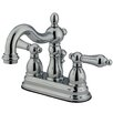 Kingston Brass Heritage Double Handle Centerset Bathroom Faucet with ABS Pop-Up Drain