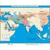 Universal Map World History Wall Maps - Eurasia & Silk Roads