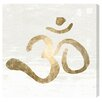 Oliver Gal 'Ohm Gold Blanc' by Blakely Home Typography on Canvas